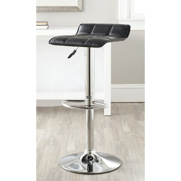 Raye Adjustable Height Swivel Bar Stool by Orren Ellis