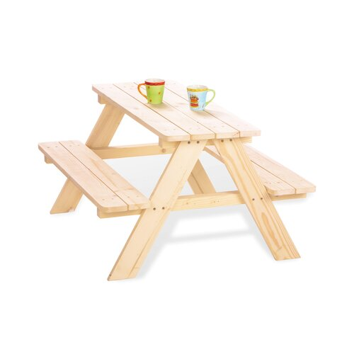 3-tlg. Picknicktisch Nicki Pinolino Größe: 50 cm H x 90 cm B x 82 cm T  Farbe: Braun   Baumarkt > Camping und Zubehör > Weiteres-Campingzubehör   Pinolino