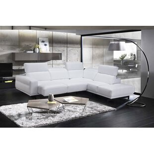Paulk Leather Sleeper Sectional