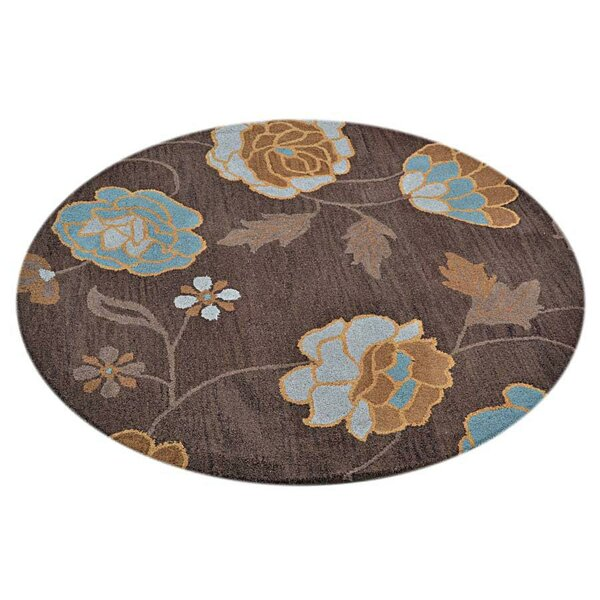 Creager Hand-Tufted Wool Brown Area Rug by Winston Porter