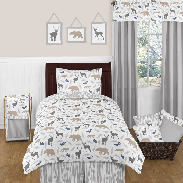 Woodland Animals Twin Comforter Set by Sweet Jojo Designs