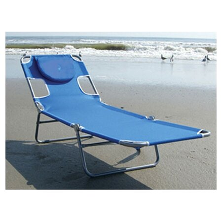 Keene Folding Chaise Lounge By Wrought Studio