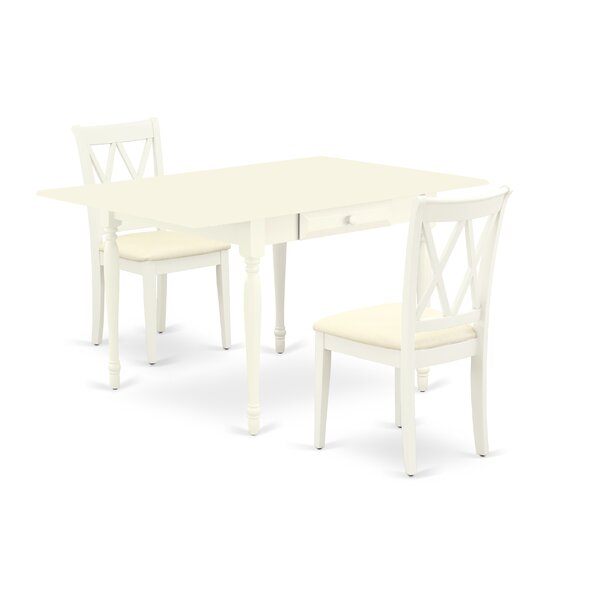 Edgartown Drop Leaf Solid Wood Dining Set by Ophelia & Co. Ophelia & Co.