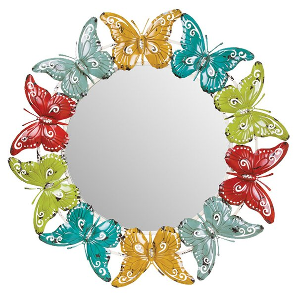 Papillon Wall Mirror by Evergreen Flag & Garden