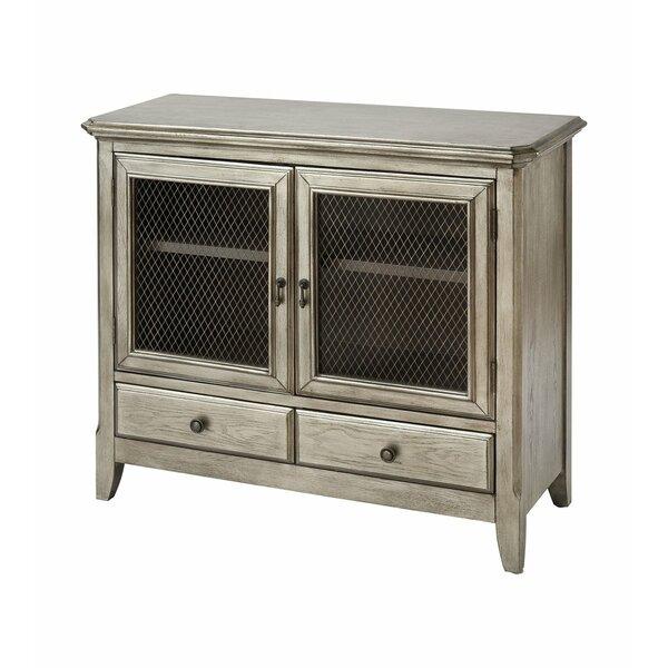 Aurelio 2-door 2-drawer Cabinet In Antique Silver Leaf by Gracie Oaks Gracie Oaks