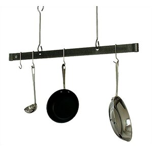 Usa Handcrafted Gourmet Ceiling Adjule Bar Pot Rack