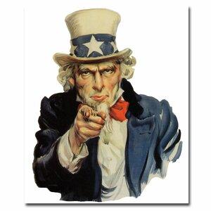 'Uncle Sam' Vintage Advertisement on Canvas by Trademark Fine Art