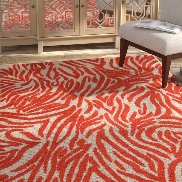 Gerdes Red Indoor/Outdoor Area Rug by Bloomsbury Market
