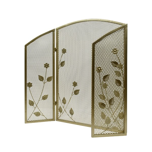 Kashton 3 Panel Iron Fireplace Screen By Home Loft Concepts
