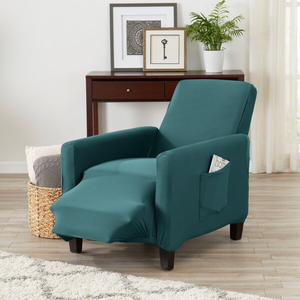 Super Soft Jersey Knit Box Cushion Recliner Slipcover by Winston Porter