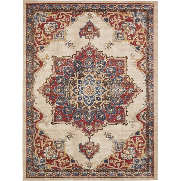 Dulin Cream Area Rug by Mercury Row