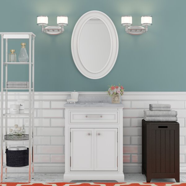 Bergin 24 Single Bathroom Vanity Set with Mirror by Three Posts