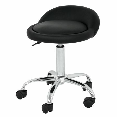 Frankford Rolling Height Adjustable Lab Stool with Backrest Wheels by Winston Porter