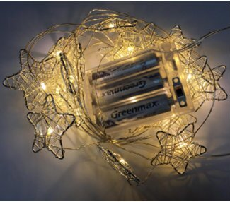 Wire Stars 20 Warm LED Light Garland by The Holiday Aisle