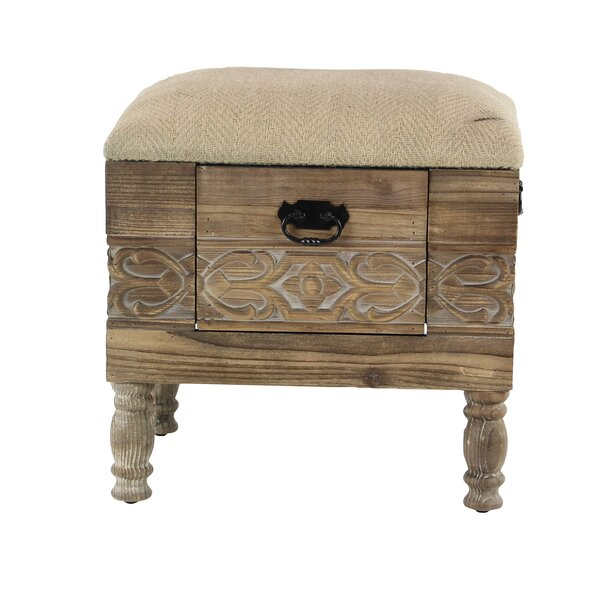 Gorney Rustic Vanity Stool by Bungalow Rose