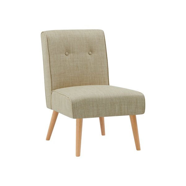 Hilary Button Tufted Slipper Chair by Wrought Studio