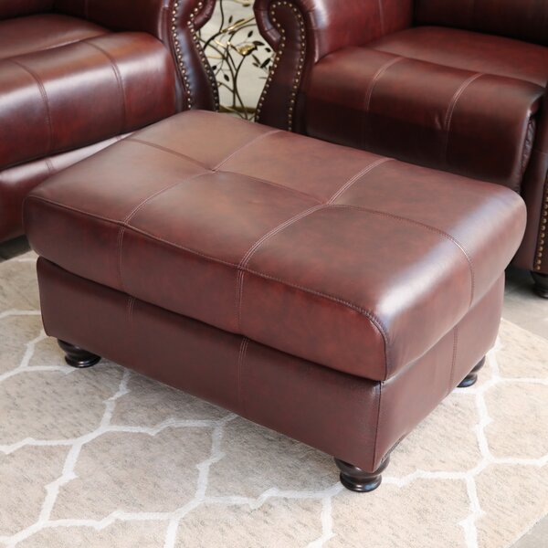 Bordelon Leather Ottoman By Darby Home Co