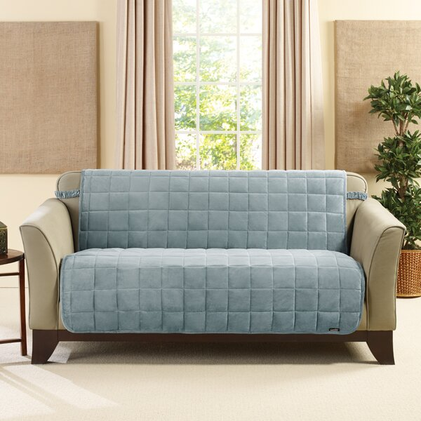 Deluxe Comfort Quilted Armless Box Cushion Loveseat Slipcover By Sure Fit