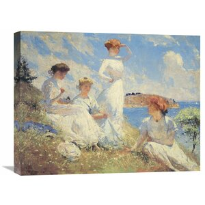 Summer by Frank Weston Benson Painting Print on Wrapped Canvas by Global Gallery