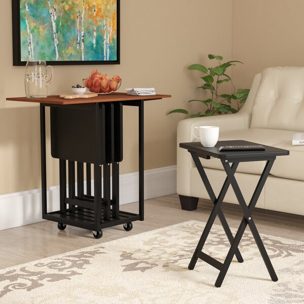 Dziedzic Drop Leaf Table with TV Tray Table Set by Red Barrel Studio| @ $280.99