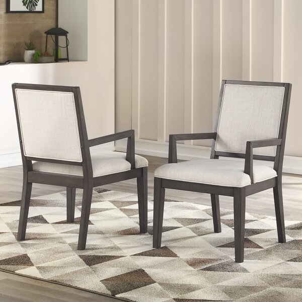 Noyes Upholstered Dining Chair (Set of 2) by Wrought Studio