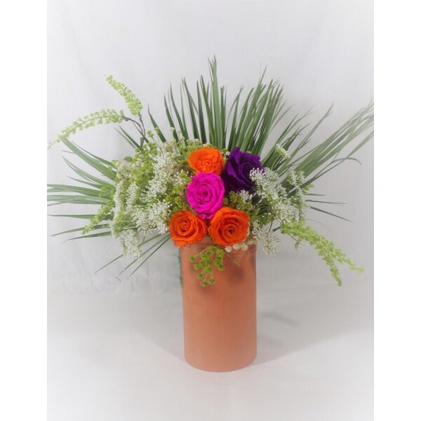 Carib Peacock Mixed Floral Arrangement in Vase by Gracie Oaks