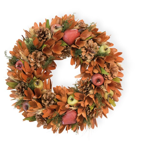 Pears Apples and Pinecones 14 Wreath by The Holida
