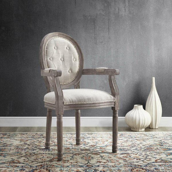 Vibbert Vintage French Upholstered Dining Chair by Ophelia & Co.