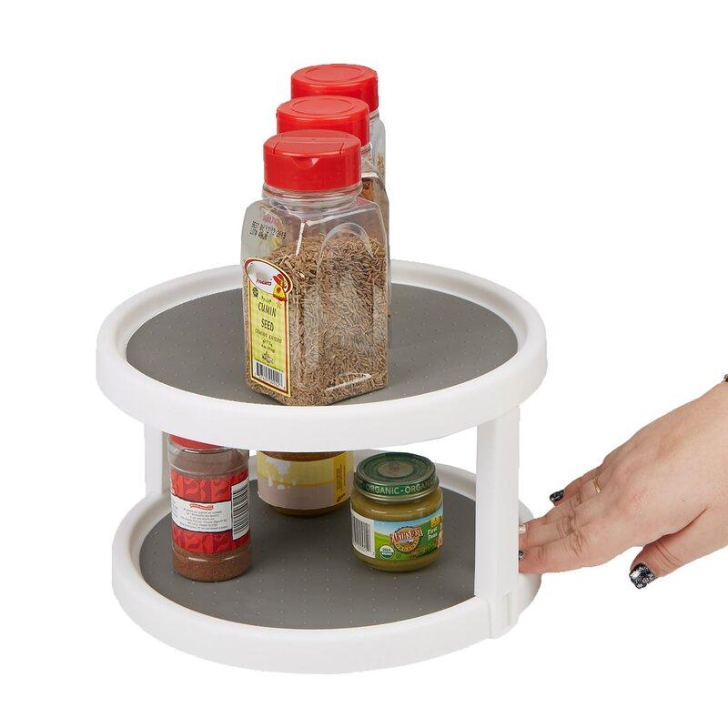 2 Tier Turntable Multi Purpose Kitchen Spice Rack