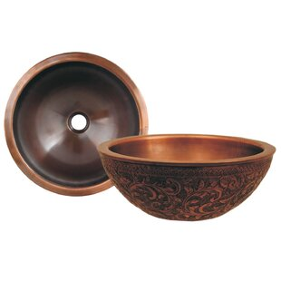 Order Copperhaus Metal Circular Vessel Bathroom Sink By Whitehaus Collection