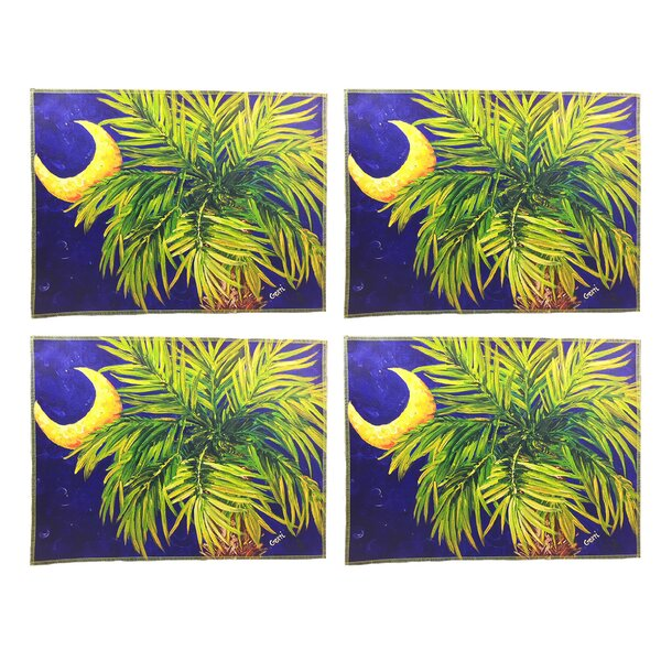 Soriano Palmetto and Moon 16 Placemats (Set of 4) by Bay Isle Home