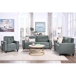 Jarmal 3 Piece Velvet Living Room Set by Latitude Run®