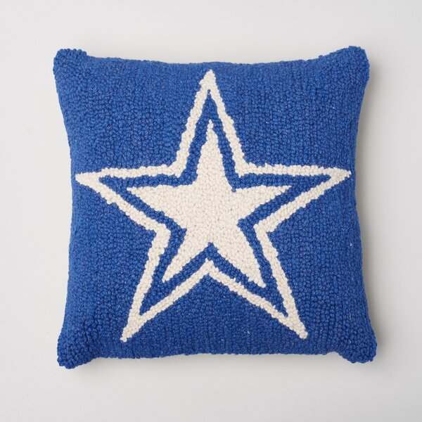 Star Decorative Wool Throw Pillow by Amity Home