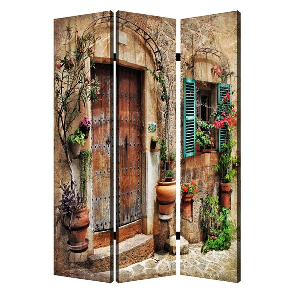Inspiration Spanish Tidings 3 Panel Room Divider by Screen Gems