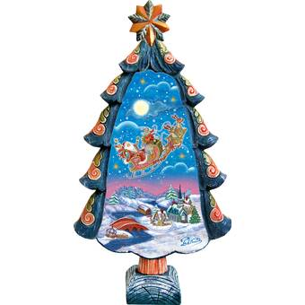 The Holiday Aisle Fifield Snow Maiden Regal Santa Figurine Derevo Collection Wayfair