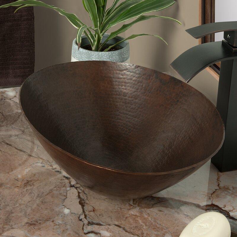 Novatto Bilboa Metal Oval Vessel Bathroom Sink Wayfair Ca