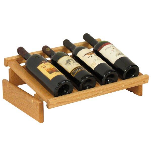 Dakota 4 Bottle Tabletop Wine Rack by Wooden Mallet