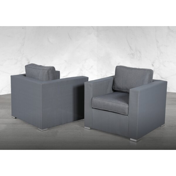 Fruithurst Patio Chair with Cushions (Set of 2) by Orren Ellis Orren Ellis