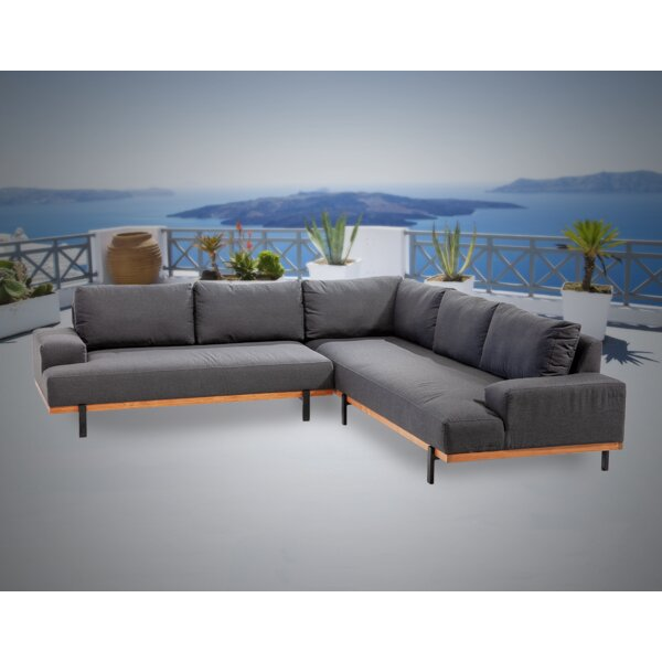Maliah 2 Piece Sunbrella Sectional Seating Group with Sunbrella Cushions by Brayden Studio