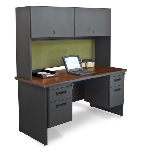Pronto Executive Desk with Double File and Lock