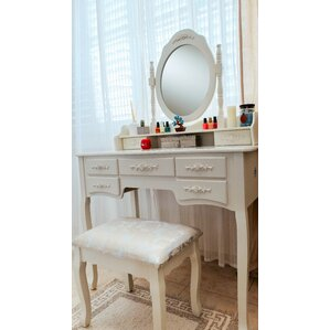 Ponticus Deluxe Vanity Set with Mirror by One Allium Way