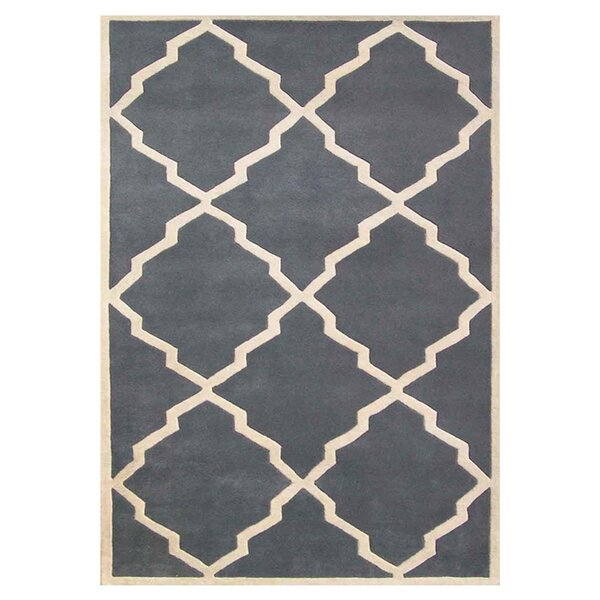 Milwaukie Hand-Tufted Gray Area Rug by The Conestoga Trading Co.