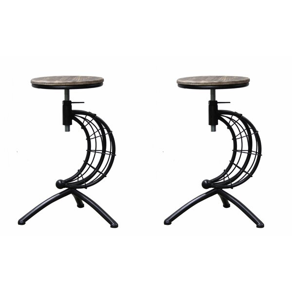 Camptown Adjustable Height Swivel Bar Stool (Set of 2) by Williston Forge