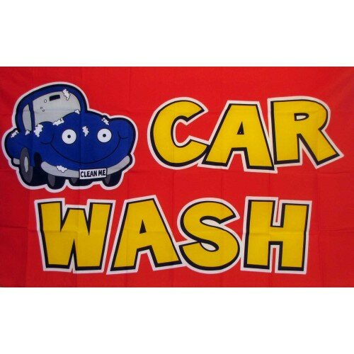 Car Wash Polyester 3 x 5 ft. Flag by NeoPlex