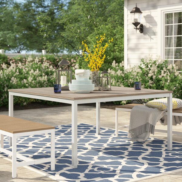 Caspian Solid Wood Dining Table by Sol 72 Outdoor