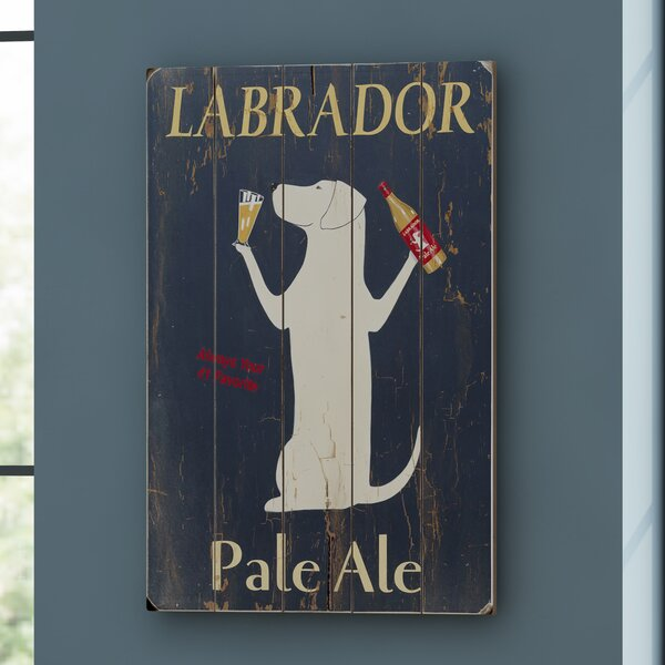 Labrador Pale Ale Vintage Advertisement on Wood by Red Barrel Studio