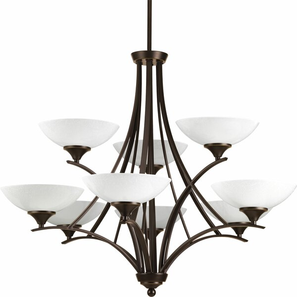 Blaise 9-Light Shaded Tiered Chandelier by Alcott Hill Alcott Hill