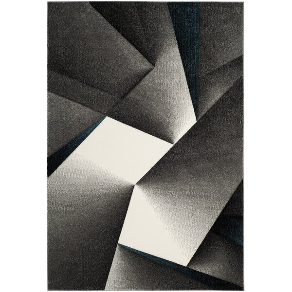 Anne Tukish Gray/Teal Area Rug by Orren Ellis