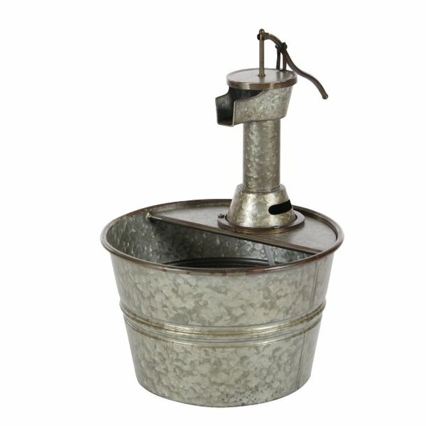 Metal Farmhouse Iron Water Pump Bucket Fountain by Cole & Grey