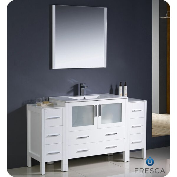 Torino 60 Single Bathroom Vanity Set with Mirror by Fresca